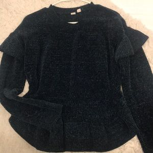 Melrose and Market Sweater - navy blue chenille